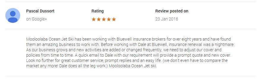 Jet ski hire public liability