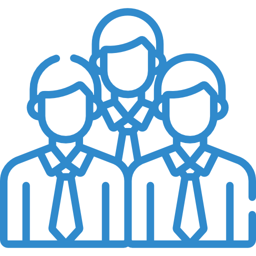 employee blue icon