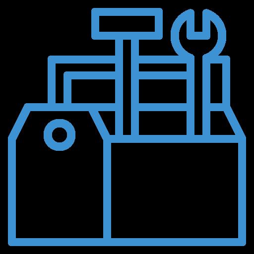 toolbox blue icon